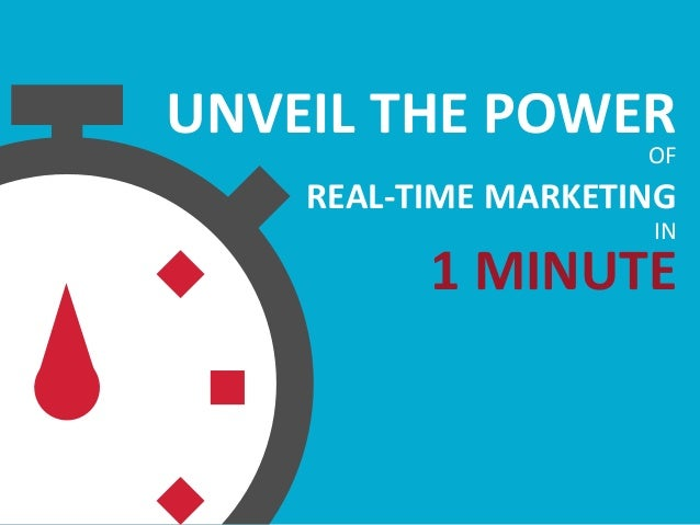 UNVEIL THE POWEROF REAL-TIME MARKETING IN 1 MINUTE