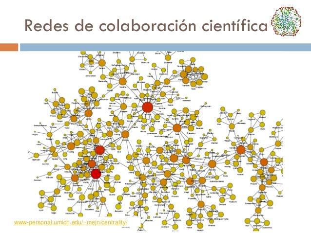 Redes de colaboración científica  www-personal.umich.edu/~mejn/centrality/