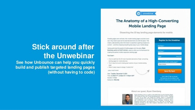 Webinar The Anatomy Of A High Converting Mobile Landing Page