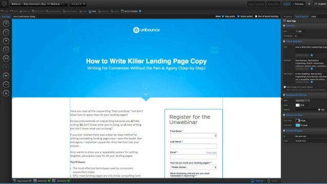 how to write landing page copy