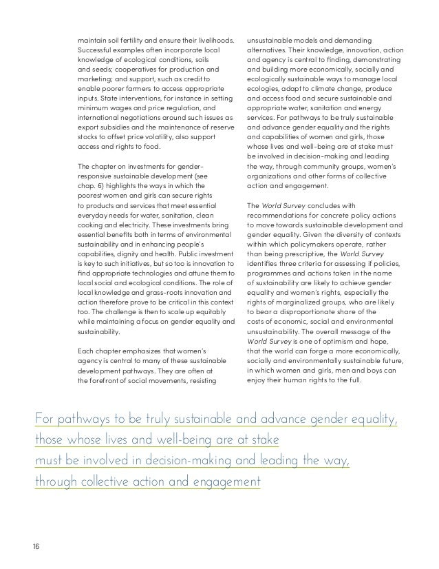 women in development and gender and Development 1999 world survey on the role of women in  shift of focus from women in development to gender and  survey on the role of women in development and.