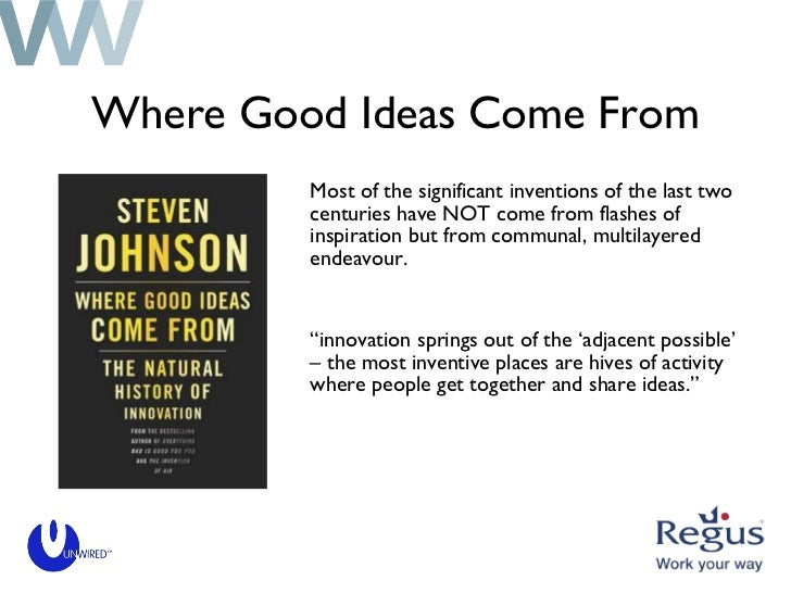 Where Good Ideas Come From <ul><li>Most of the significant inventions of the last two centuries have NOT come from flashes...