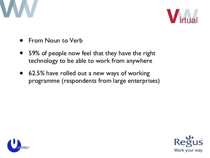 <ul><li>From Noun to Verb </li></ul><ul><li>59% of people now feel that they have the right technology to be able to work ...