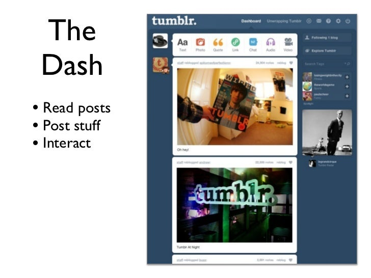Unwrapping Tumblr for Journalists