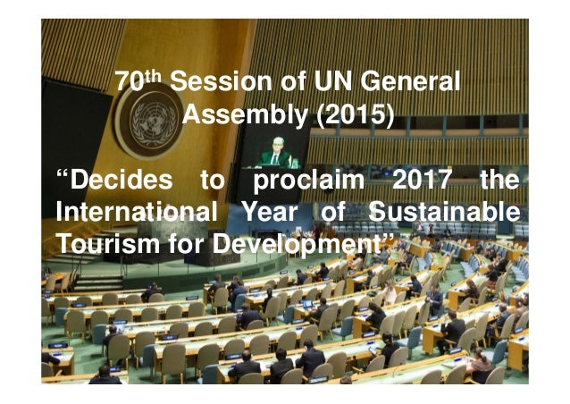 UNWTO International Year of Sustainable Tourism for Development 2017 Slide 2