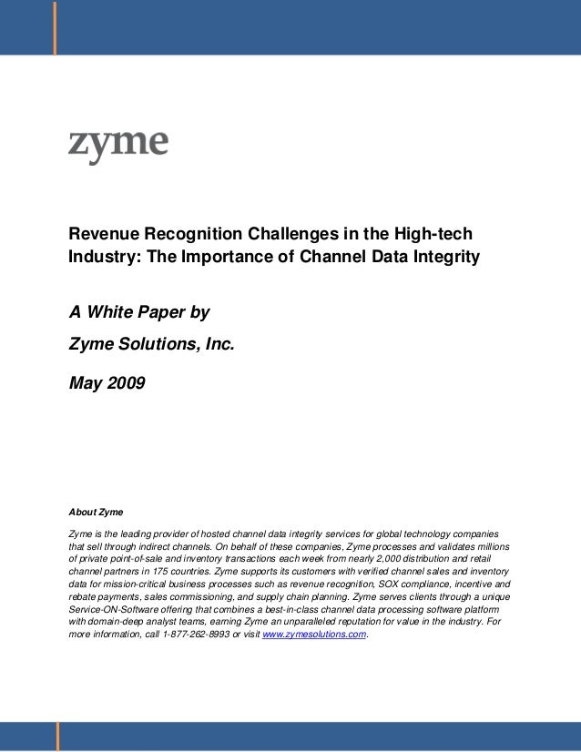 The Importance of Channel Data Integrity - Zyme Soultions