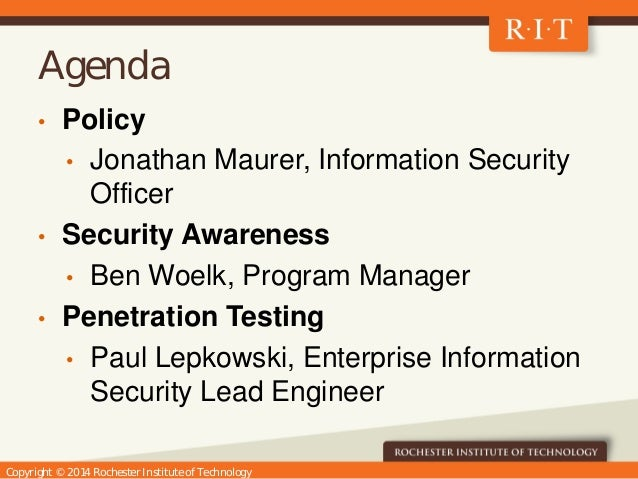 UNYCC Information Security Discussion Slide 2