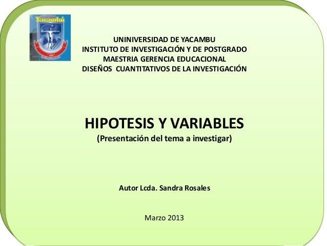 UNINIVERSIDAD DE YACAMBU                UNINIVERSIDAD DE YACAMBU               PROGRAMA DE POSTGRADO       INSTITUTO DE IN...