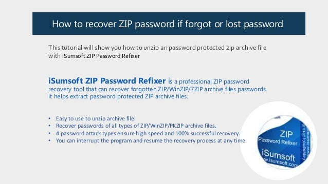 How to Open Password-protected Zip File if Forgot its Password