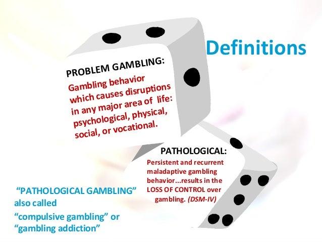 Definition of gambling addiction best online casino 2017
