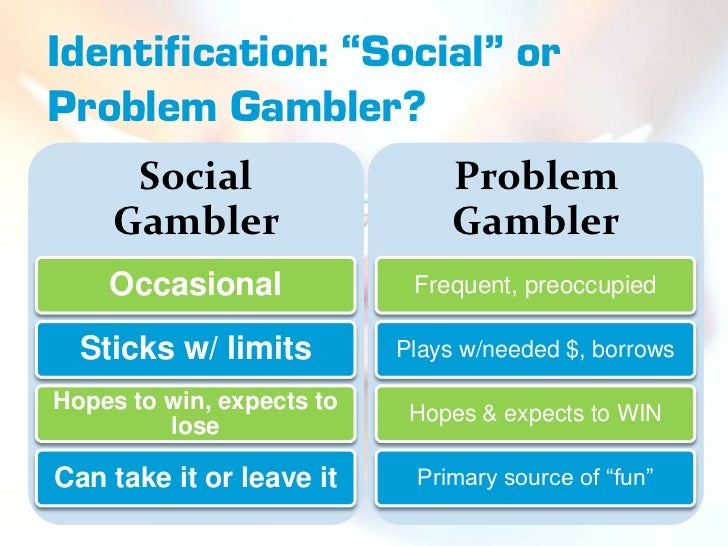 how to tell if someone has a gambling problem