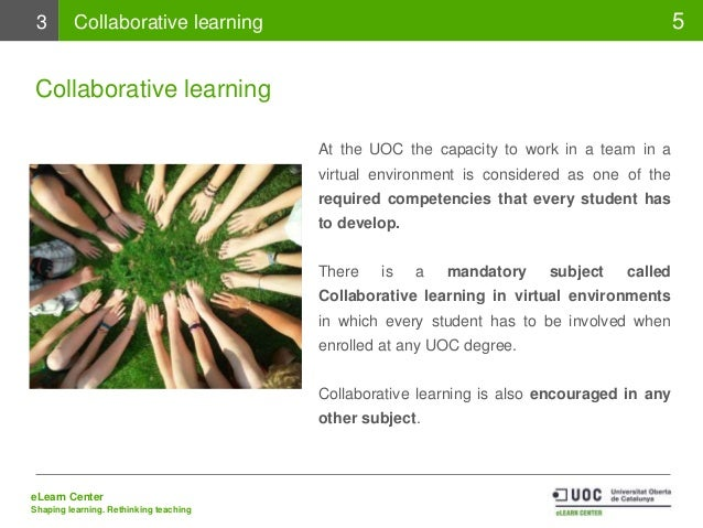 Collaborative Teaching Degree ~ Uoc s educational model from collaborative learning to