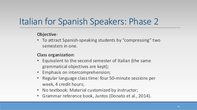 Italian Language And Culture For Spanish Speakers In Florida Benefit