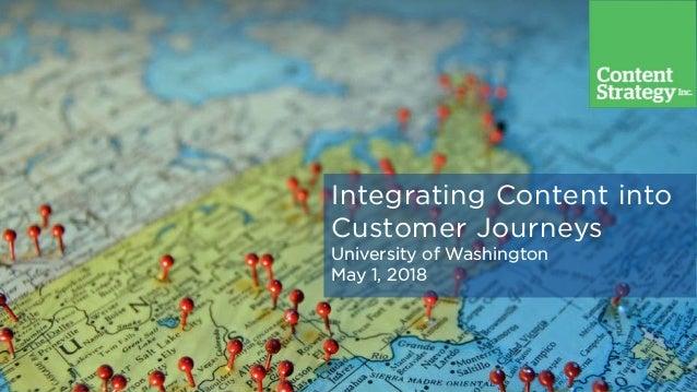 Integrating Content into Customer Journeys University of Washington May 1, 2018