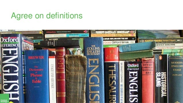 Agree on definitions