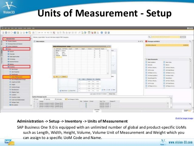 sap business one 90 multiple units of measurement