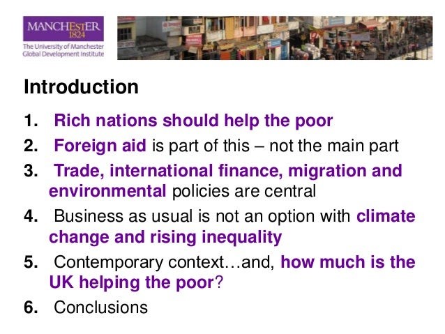 Should wealthy countries help poor countries essay