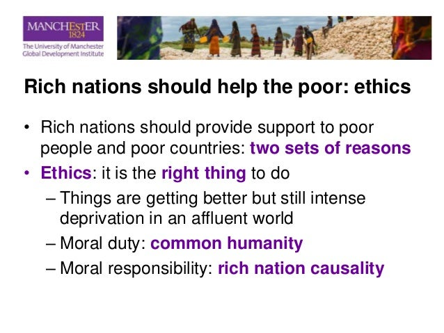 rich should help the poor article