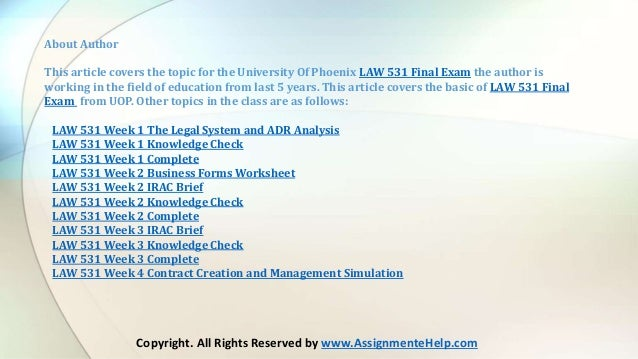 Law 531 The Legal System and ADR Analysis