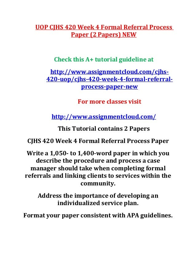 how to write a process paper