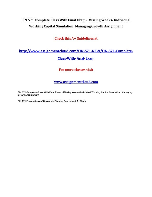 working capital simulation managing growth part 2 powerpoint