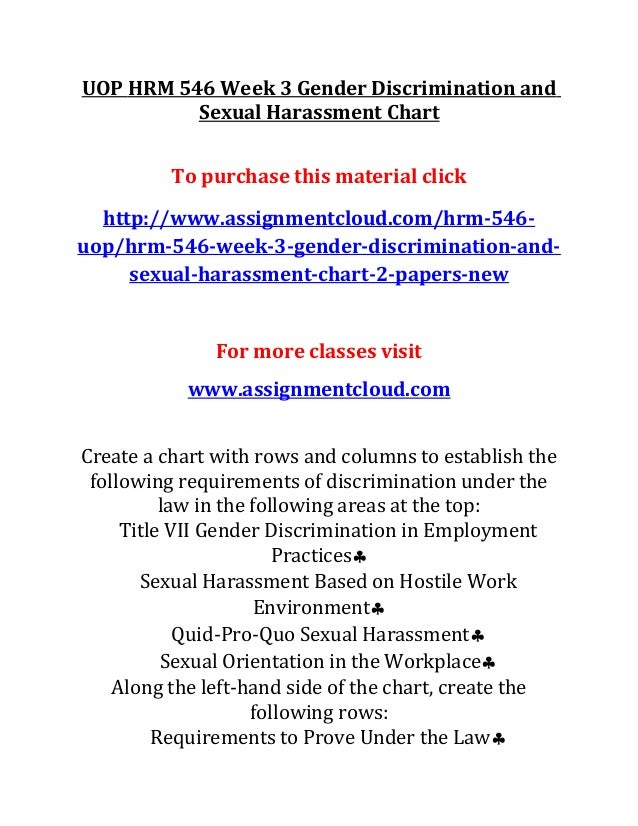 Sexual harassment act title vii discrimination