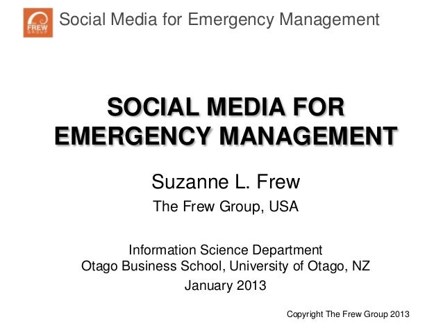 Social Media for Emergency ManagementNaturalDisaster Response and Recovery   SOCIAL MEDIA FOREMERGENCY MANAGEMENT         ...