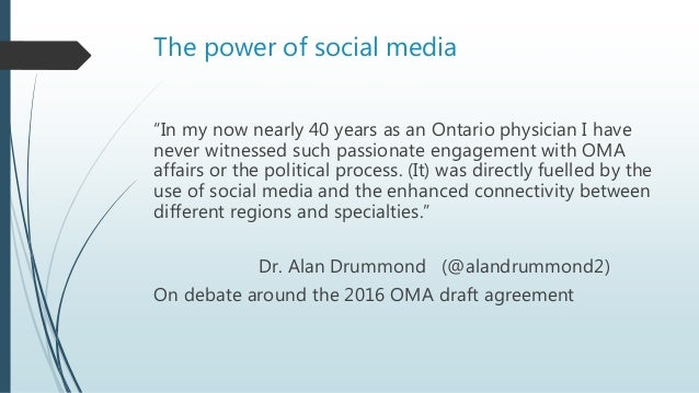 """The power of social media """"In my now nearly 40 years as an Ontario physician I have never witnessed such passionate engage..."""
