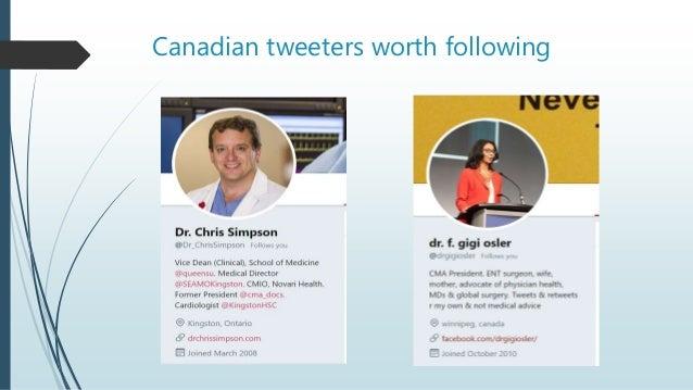 Canadian tweeters worth following
