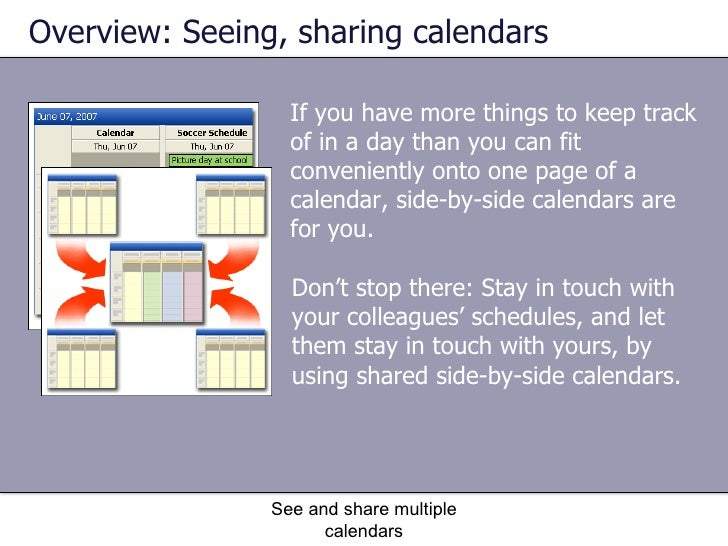 how to see multiple calendars in outlook