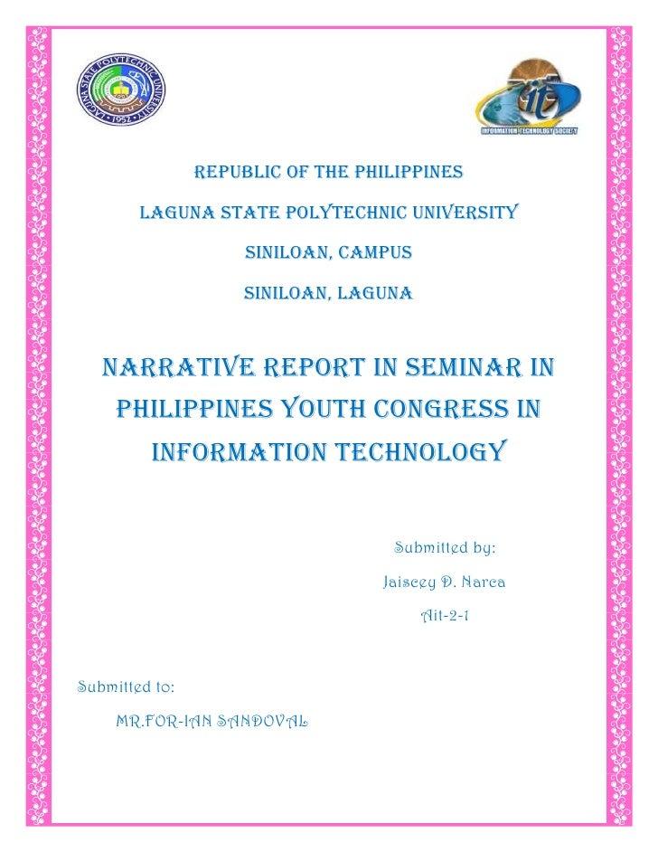 4629150-295275-28576-295275<br />REPUBLIC OF THE PHILIPPINES<br />LAGUNA STATE POLYTECHNIC UNIVERSITY<br />SINILOAN, CAMPU...