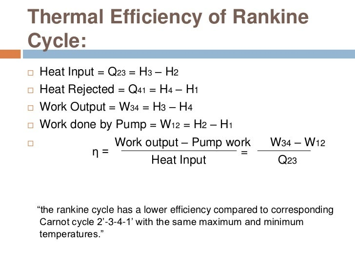 Thermodynamics Of Power Plant