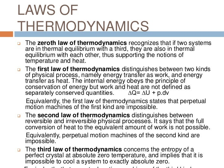 an analysis of the second law of thermodynamics vs evolution The second law of thermodynamics there is nothing about the second law the talkorigins website has an extensive discussion about the evolution/thermodynamics.