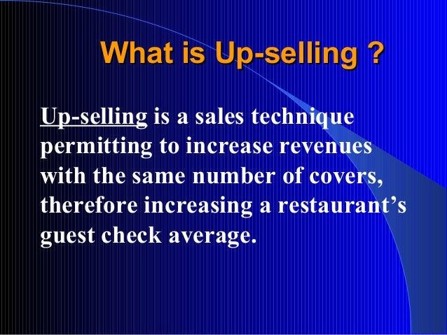 Up selling skills