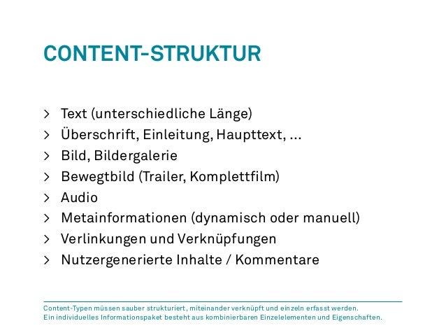 Content-Struktur  > Text (unterschiedliche Länge)  > Überschrift, Einleitung, Haupttext, ...  > Bild, Bildergalerie  > Bew...
