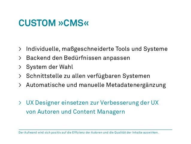 Custom »CMS«  > Individuelle, maßgeschneiderte Tools und Systeme  > Backend den Bedürfnissen anpassen  > System der Wahl  ...