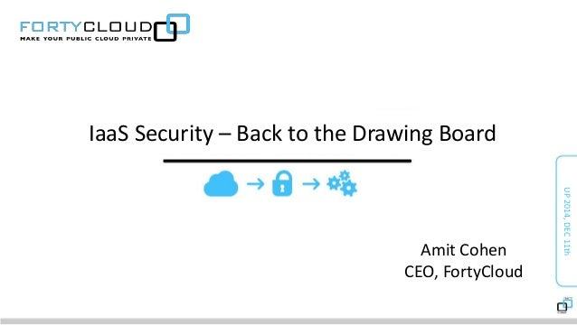 IaaS Security – Back to the Drawing Board  UP 2014, DEC 11th  Amit Cohen  CEO, FortyCloud