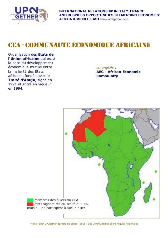 Livre blanc UP2gether : Les Communautés économiques régionales en Afrique Slide 3