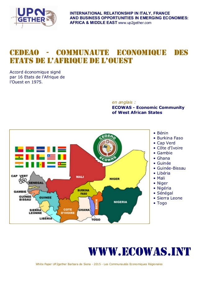 INTERNATIONAL RELATIONSHIP IN ITALY, FRANCE AND BUSINESS OPPORTUNITIES IN EMERGING ECONOMIES: AFRICA & MIDDLE EAST www.up2...