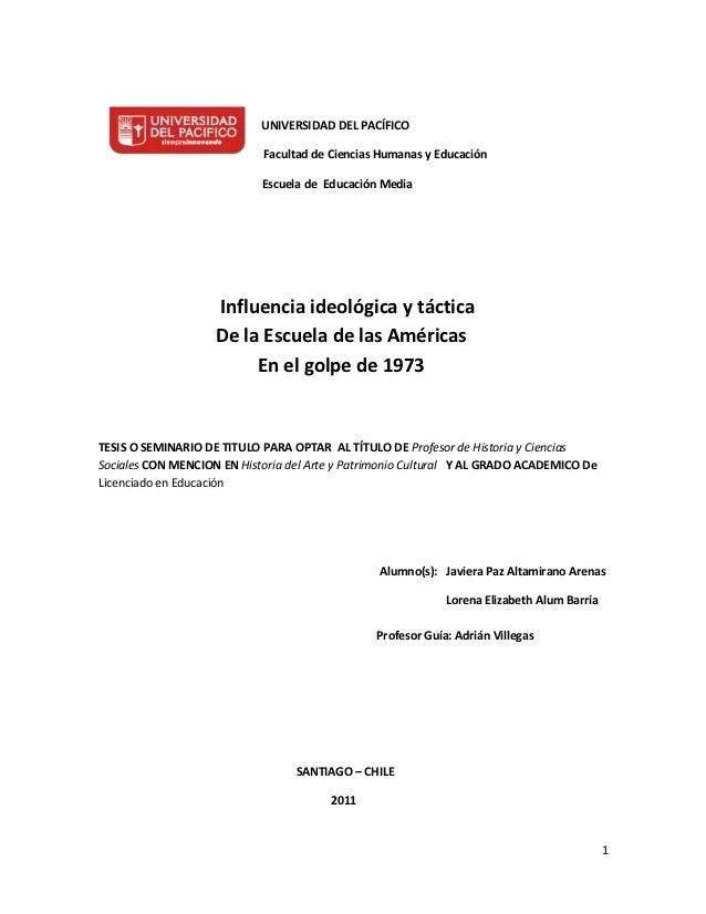 UNIVERSIDAD DEL PACÍFICO                            Facultad de Ciencias Humanas y Educación                            Es...