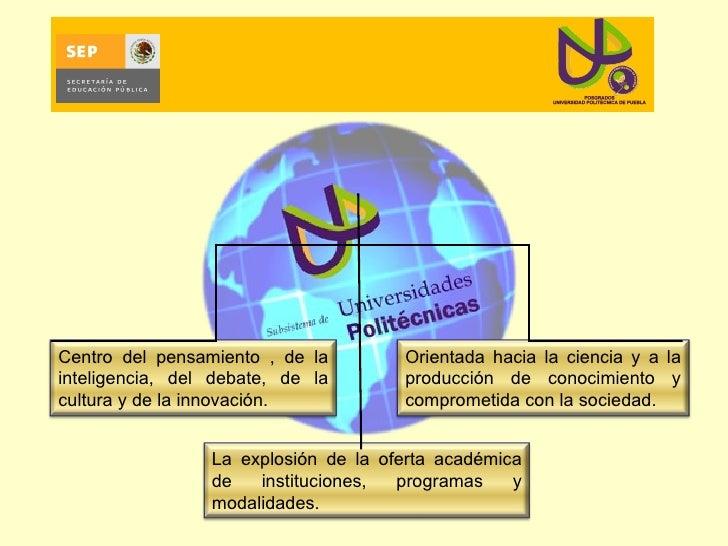 Centro del pensamiento , de la inteligencia, del debate, de la cultura y de la innovación. Orientada hacia la ciencia y a ...