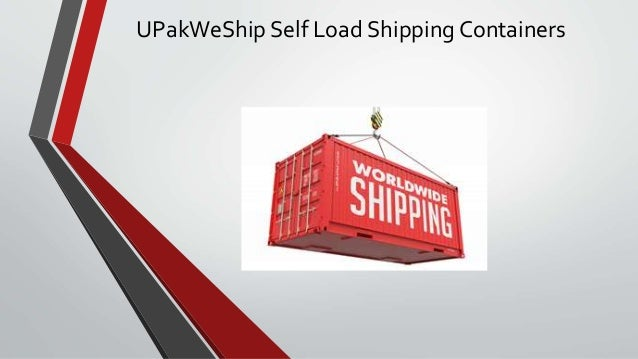UPakWeShip Self Load Shipping Containers