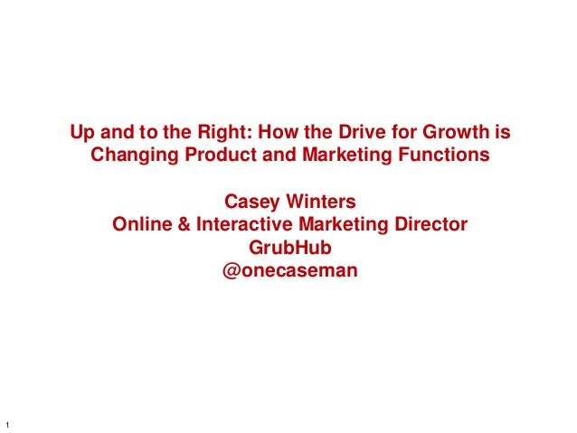 Up and to the Right: How the Drive for Growth is Changing Product and Marketing Functions  Casey Winters Online & Interact...