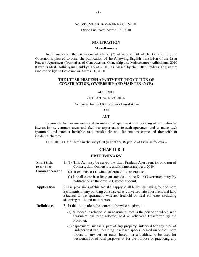 -1-                          No. 398(2)/LXXIX-V-1-10-1(ka) 12-2010                              Dated Lucknow, March 19 , ...