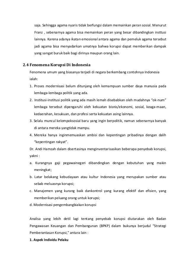 Makalah Upaya Pemberantasan Korupsi Di Indonesia Revisi