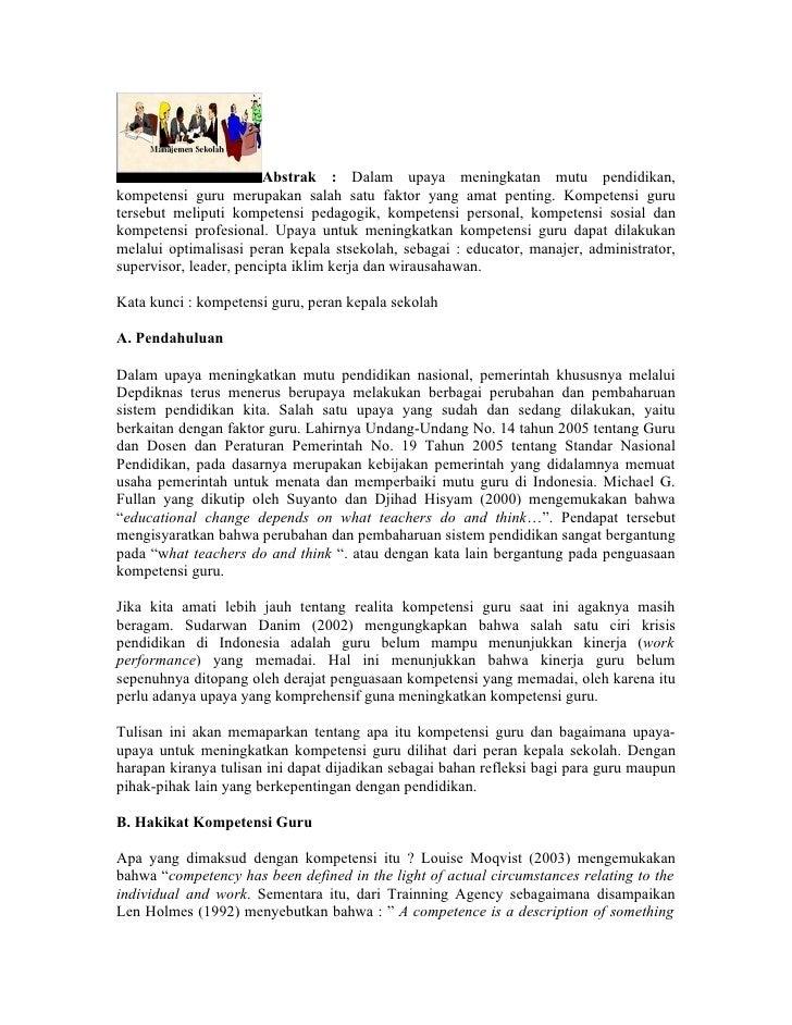 Upaya Peningkatan Mutu Pendidikan Di Sekolah Dasar Negeri 013