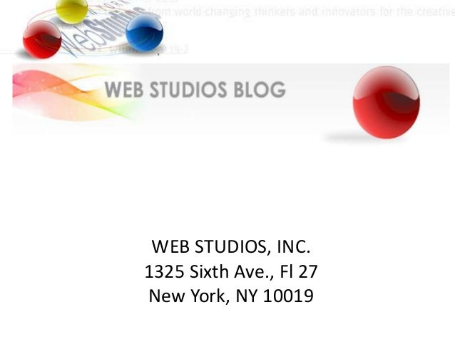 WEB STUDIOS, INC.1325 Sixth Ave., Fl 27New York, NY 10019