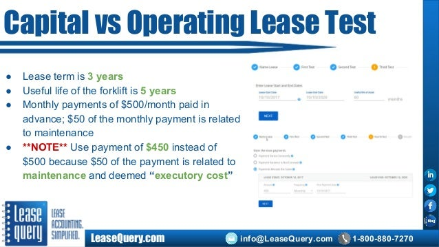 Capital Vs Operating Lease >> Capital Lease Accounting Under Current Accounting Standards