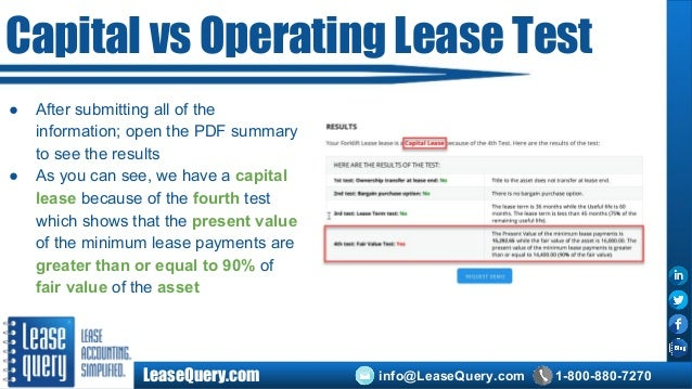Capital Lease Accounting Under Current Accounting Standards