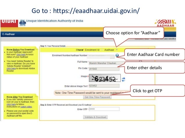 How To Open Aadhar Card Pdf